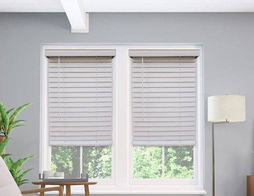 "QUICK SHIP 2"" Cordless Faux Wood Blinds"