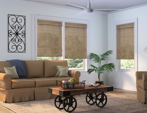 Cordless Contemporary Woven Wood Shades