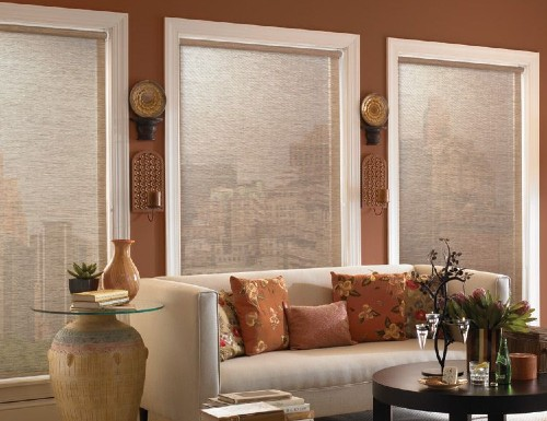 White Modern Woven Roller Shades