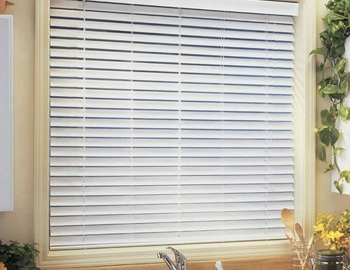 Cordless Essential 2 Quot Faux Wood Blinds Vinyl Fake Wood