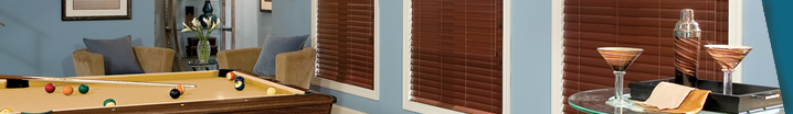 Family Room Window Treatments - Blinds, Shades and Shutters
