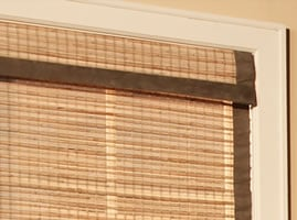 fabric edge binding on bamboo shades