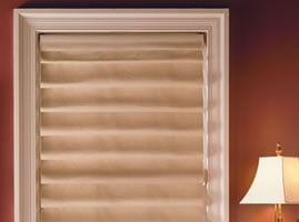 Hobbled Fold Roman Shades