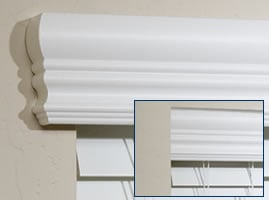 Valance Returns on a cornice style valance