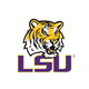 LSU Tiger Head Logo on White