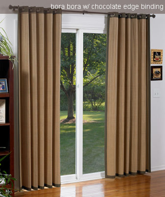 Woven Wood Curtains Large Patio Doors