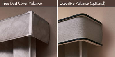 Executive Valance vs. Dust Cover Valance